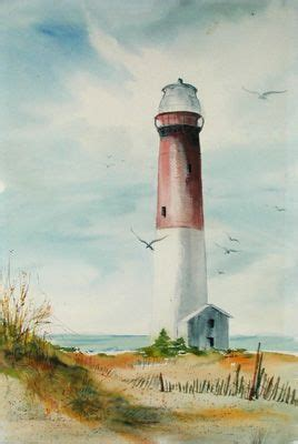 watercolor lighthouse tutorial barnegat lighthouse watercolor pinterest discover