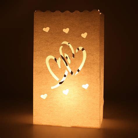paper bag tea lights 20 tea light candle lantern paper bag garden wedding
