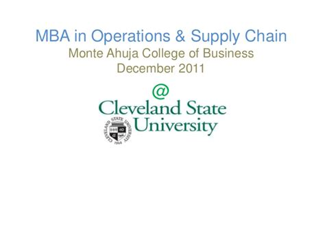Cleveland State Mba Curriculum by Visual Resume Atul Tanawade