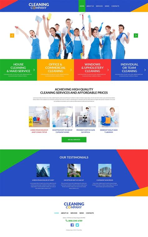 Top 40 Off The Shelf Wordpress Themes For Business Web Template Customization Cleaning Service Website Template