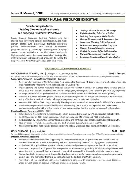 junior hr executive sle resume the top 4 executive resume exles written by a