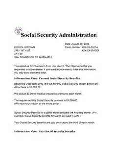 Verification Letter Social Security Number Social Security Benefit Letter Levelings