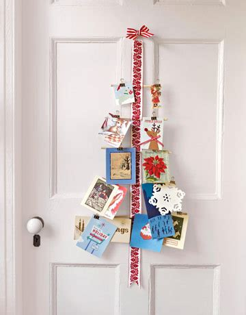 mad about pink christmas card display ideas