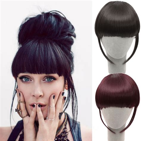 hair extensions for bangs front hair bangs extension clip in hair bang synthetic