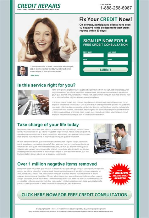 Lead Magnet Landing Page Design Templates For Your Marketing Credit Repair Flyer Template