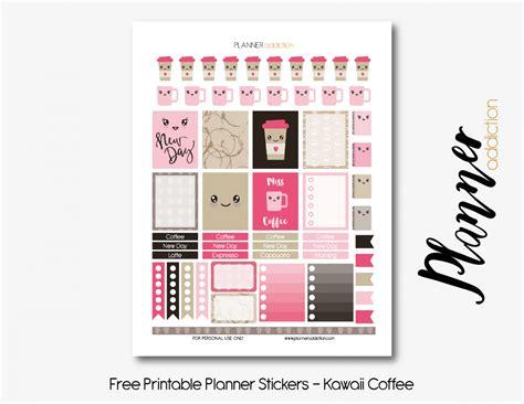 kawaii weekly planner printable coffee kawaii planner addiction