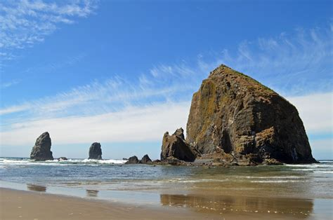 haystack rock cannon beach oregon shooting from the hip