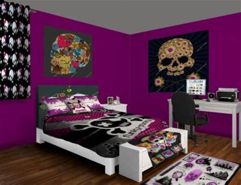 skull bedroom ideas purple and black skull takeover bedroom design at http