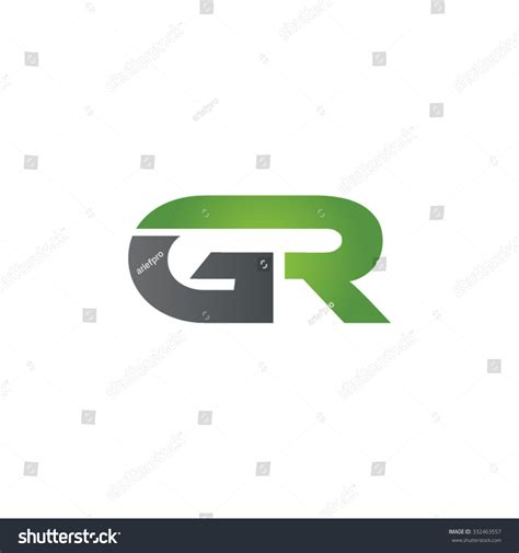Gr Company Linked Letter Logo Green Stock Vector 332463557 ... G R Logo