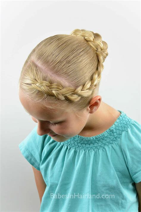 micro braid hairstyles bun micro braid striped bun back to school style babes in