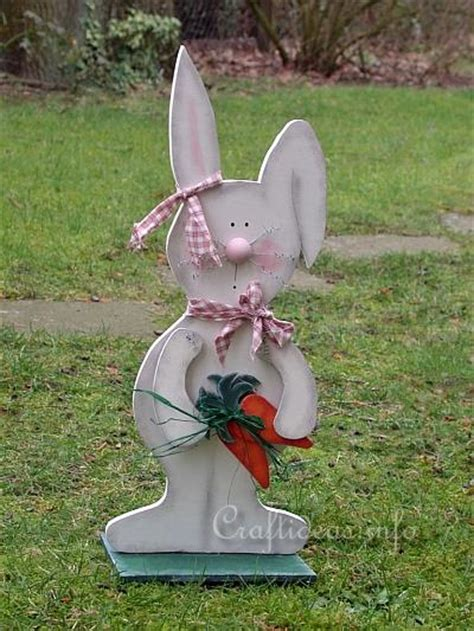 free and easter wood craft large wooden bunny