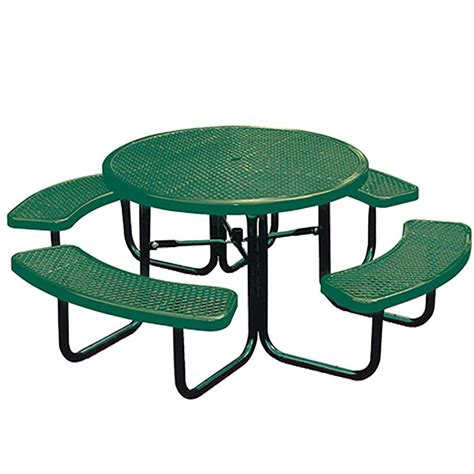 portable green commercial park picnic table
