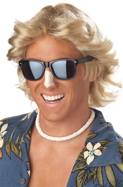mens feathered haircuts 70s 70 s men blonde feathered hair halloween costume wig ebay
