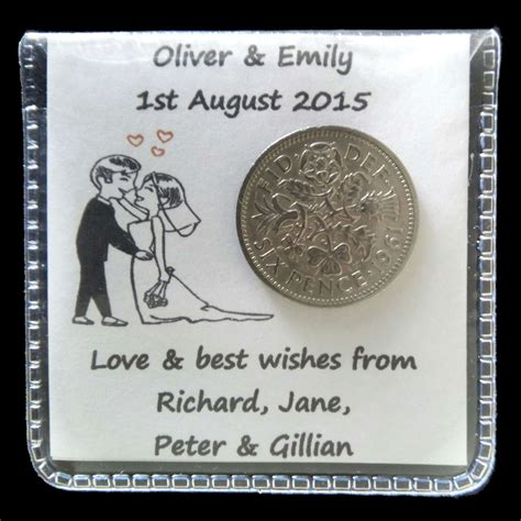 Wedding Gifts For Groom by 2 X Lucky Sixpence Wedding Gift For The And Groom