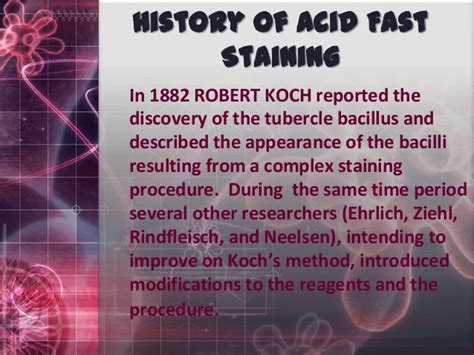 ziehl neelsen stain slideshare acid fast staining a presentation for biotechnic and