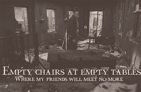 Eddie Redmayne Empty Chairs At Empty Tables by Marious