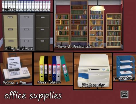 office clutter sims 4 cc office supplies at simlifecc 187 sims 4 updates