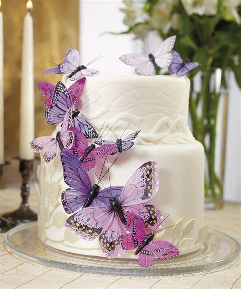 Purple Butterfly Butterflies Wedding Cake Decorations   eBay
