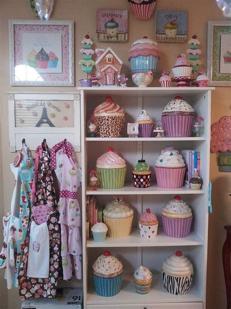 cupcake jars cupcake kitchen decor pinterest cupcake cookie jar cupcake kitchen bonnie s cupcake