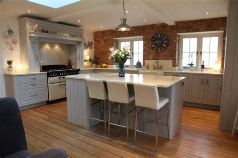 How To Paint Kitchen Cabinets Uk Distressed Painted Kitchen Bespoke Kitchens