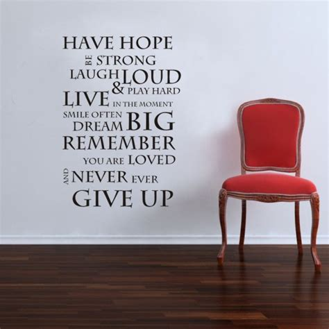 Inspirational Quotes Wall Stickers have hope inspirational wall sticker quote saying wall