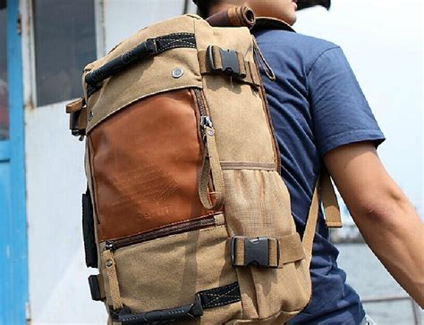 Canvas Travel Backpack ibagbar canvas travel backpack 187 gadget flow