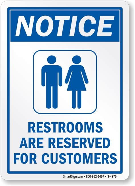 bathroom for customers only sign bathroom for customers only sign no public restroom signs