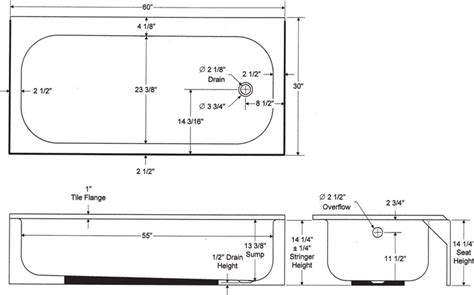 Bathtub Width Standard by Aloha Retail Bootz Industries