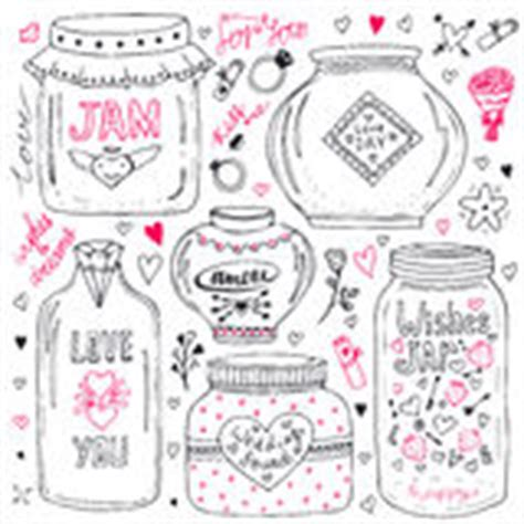 doodle god jar set of lettering and paw print stock vector image