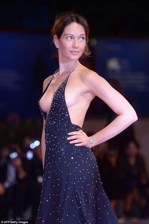 family nip slips cristiana capotondi suffers nip slip at venice film fest