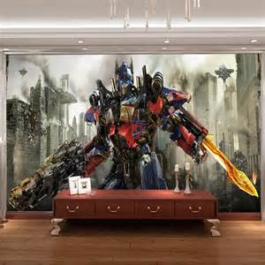 transformers photo wallpaper 3d optimus prime wall mural avengers boys bedroom wall murals for wall