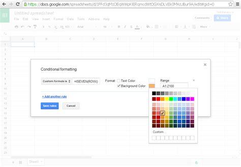 formula tutorial google sheets tutorial praktek cara mewarnai baris kolom google sheet