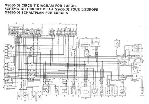 77 yamaha xs650 ignition diagram 77 free engine image
