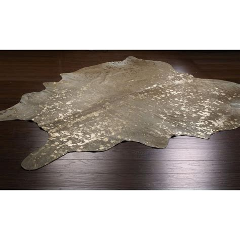 metallic cowhide rug metallic cowhide rug available in 3 colors beige and silver beige gold metallic white