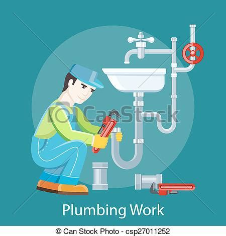 Plumbing Price Work by Clipart Vector Of Plumbing Work Concept Plumbing Work