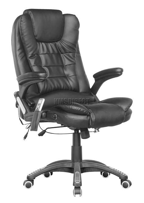 black leather office chair recliner foxhunter 8025 leather 6 point office computer