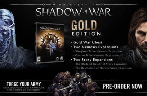 Middle Earth Shadow Of War Silver Edition Reg 3 Ps4 middle earth shadow of war gold edition mesow mmoga
