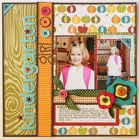 scrapbook layout for school picture school scrapbook page scrapbooking and paper crafting