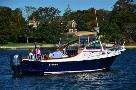 hinckley picnic boat nantucket introducing new boat lines steiger craft vanquish