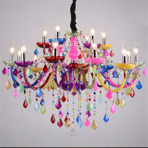 bunte kronleuchter led chandelier lighting bohemia colorful