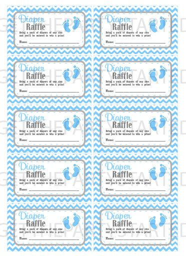 diaper raffle tickets printable baby shower raffle tickets