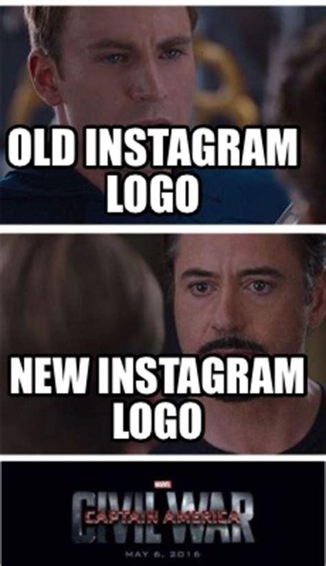 Meme Generator For Instagram - meme creator old instagram logo new instagram logo meme