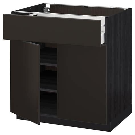 ikea kitchen base cabinet metod maximera base cabinet with drawer 2 doors black