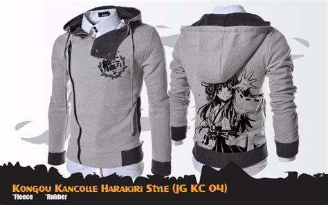 Jaket Sweater Pria Sweater Anime Jubah Anime Outwear Pria Anime jual jaket anime kongou kancolle harakiri jacket hoodie jg kc 04 di lapak hidari shop