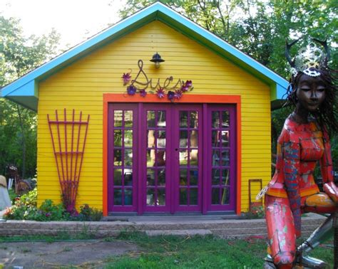 Yellow Shed Paint by Top 15 Coolest Shed Paint