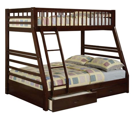 twin full bunk beds jason espresso twin full bunk bed with drawers