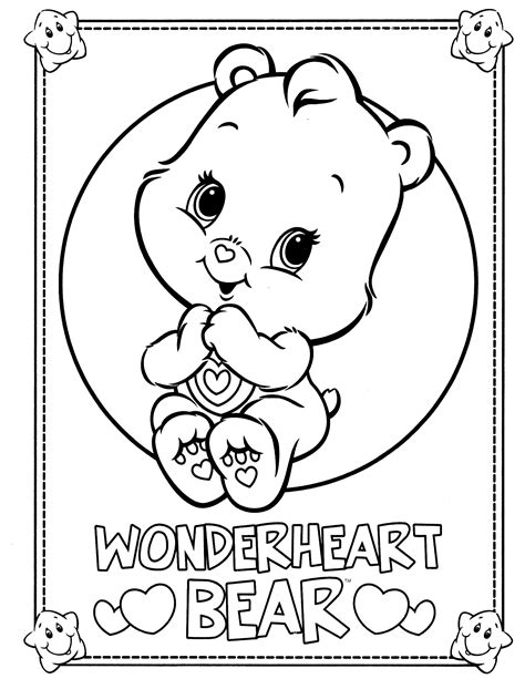 wonderheart bear coloring pages fresh easy to color the care bears coloring pages