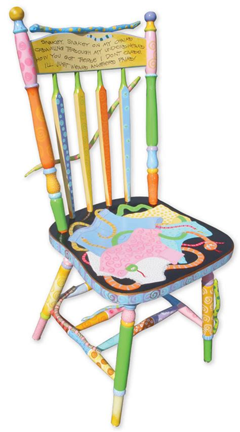 painted chairs images snake chair