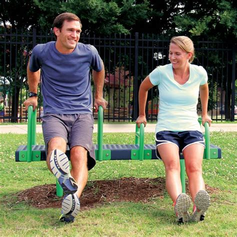 dip bench station ultraplay bench dip station up256 outdoor fitness equipment worthington direct