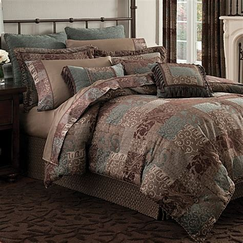 croscill classics catalina brown comforter set croscill 174 galleria comforter set in chocolate bed bath